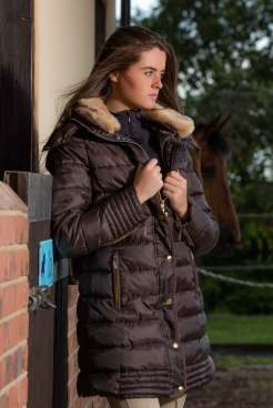 Mark Todd Deluxe Padded Coat - chocolate - lifestyle