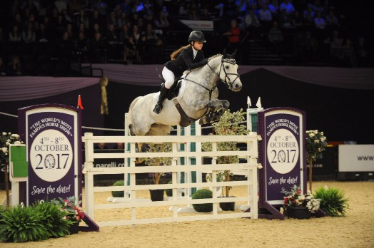 Faye Sutton and  Robe Ruadh - HOYS 2016