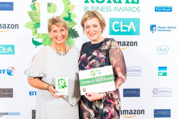Maggie Boswell and Jane Holdsworth from Radway Riding School who were judged runners up in the Best Sporting Rural Business Category at the Rural Business Awards 2017