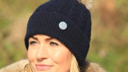 Cashmere Bobble Hat from Annabel Brocks