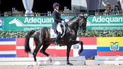 Grand Prix Special CDI5* winners Adrienne Lyle (USA) and Salvino top an all-American podium.
