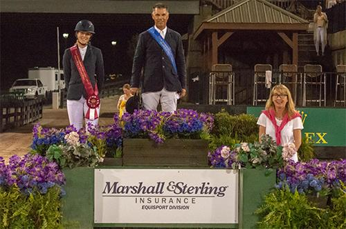 Jimmy Torano and Sarah Bagworth in their presentation ceremony with Missy Sullivan of Marshall & Sterling Insurance. Photo Credit©TIEC