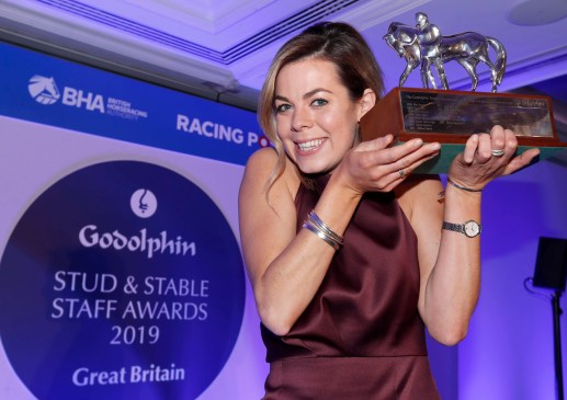 Catriona Bissett with The Godolphin Employee of the Year