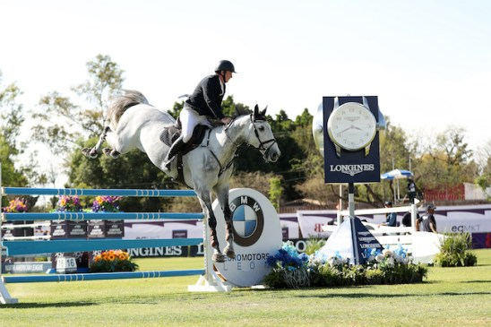 Jordan Coyle (IRL) and Eristov recorded a career-high victory in Leon. (FEI/Anwar Esquivel)