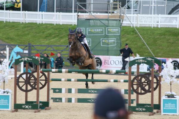 Kayleigh Watts riding Ninkie de Vy Z Bolesworth International Horse Show