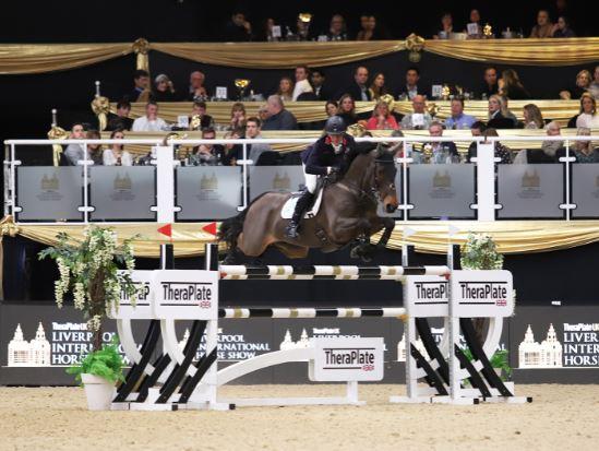 Image of Oliver Fletcher competing at Liverpool International Horse Show