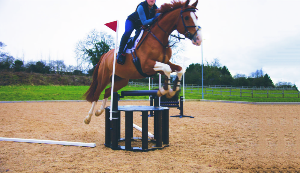 Jump 4 joy wishing well horse jumping over xc fence