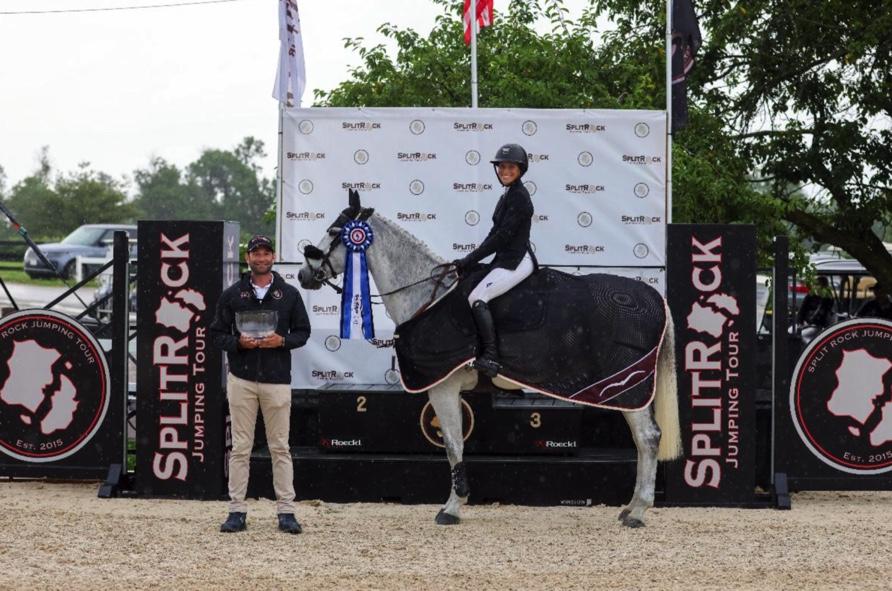 Kentucky Horse Park - Grand Prix CSI2* Taylor St. Jacques and Upsilon De La Liniere with Split Rock Jumping Tour Founder and CEO Derek Braun (c)Winslow Photography