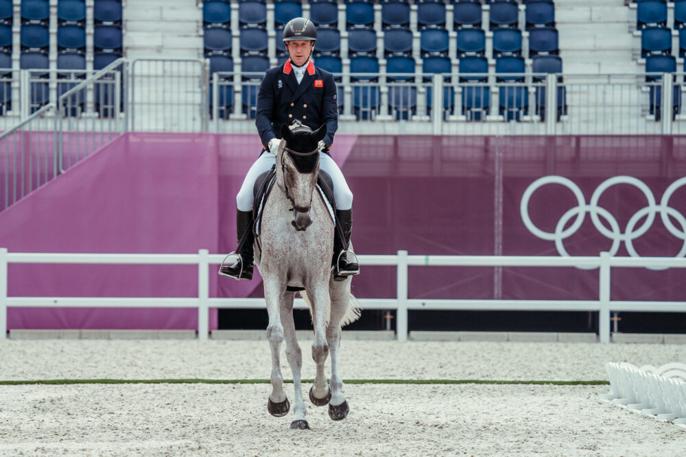 Oliver Townend and Ballaghmor Class at the Tokyo 2020 Olympic Games (FEI/Christophe Taniere)