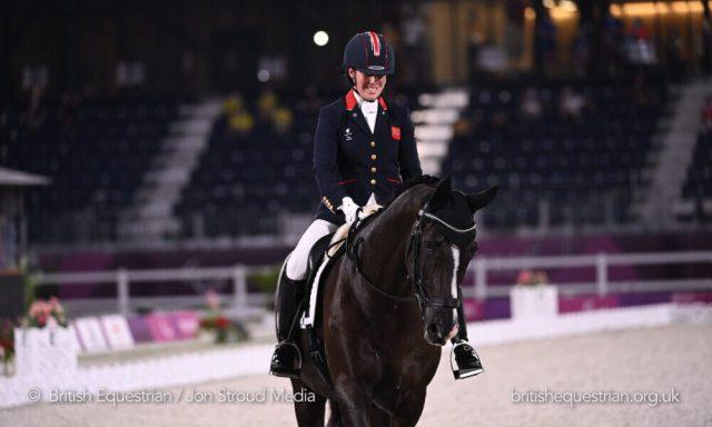 Sophie Wells riding Don Cara M at Tokyo Paralympics (British Equestrian/Jon Stroud)
