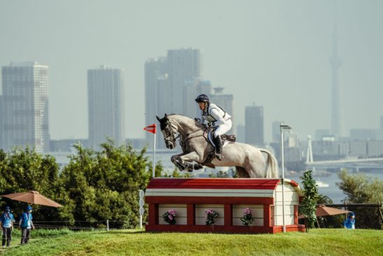 Oliver Townend riding Ballaghmor Class at Sea Forest Park (JPN), Tokyo 2020 (FEI/Christophe Taniere)