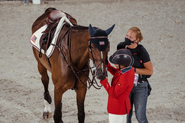 Olympics Games - FEI Jumping Team Final 393 - USA - Kraut Laura ride Baloutinue Photo Copyright © FEI/Christophe Taniére