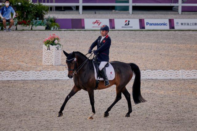 Lee Pearson and Breezer - Tokyo Paralympics Team Dressage Grade II test (FEI/Liz Gregg)