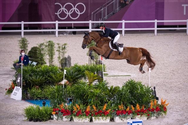 Ben Maher (GBR) & Explosion W - Jumping - Individual Qualifier - Equestrian Park, Setagaya City, Tokyo. Image Jon Stroud Media
