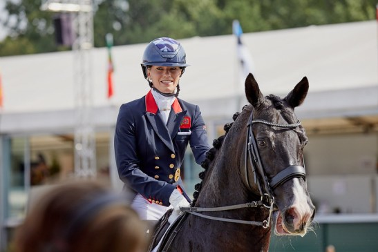 Team Grand Prix. Charlotte Fry Everday GBR. Presently in 1st position. Team GBR is in the lead. Photo Copyright © FEI/Liz Gregg