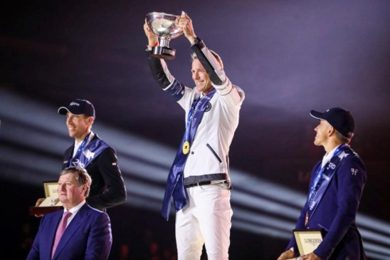 Image of Peder Fredricson holding Longines Global Champions Tour Title