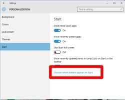 Windows 10 Start Folder