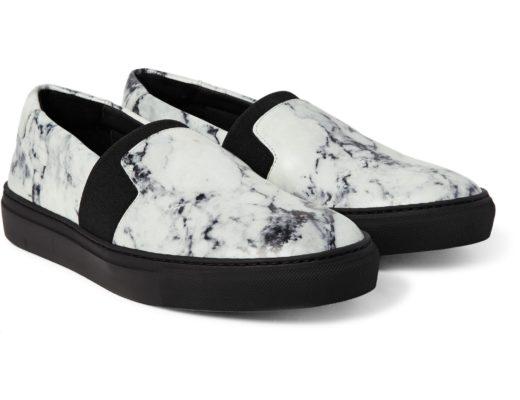 scarpe effetto marmo carrara di Balenciaga