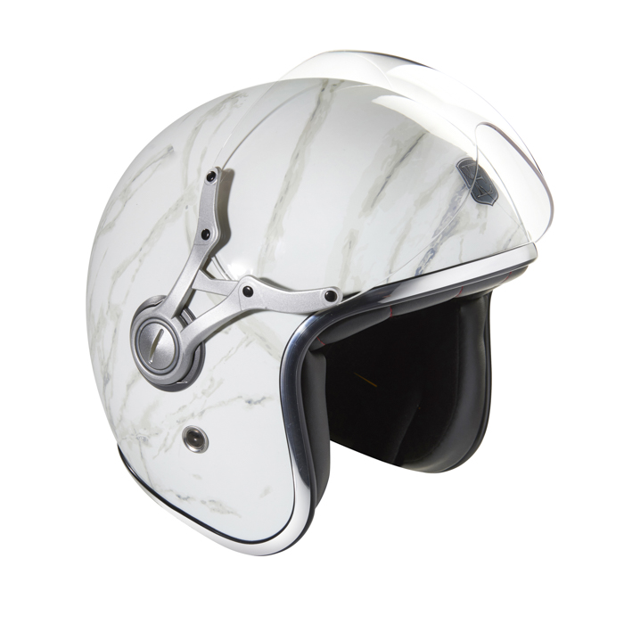 White marble helmet
