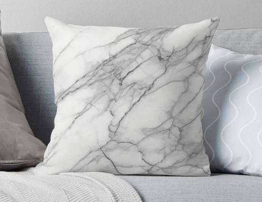 Marbled throw pillow by W.Francis