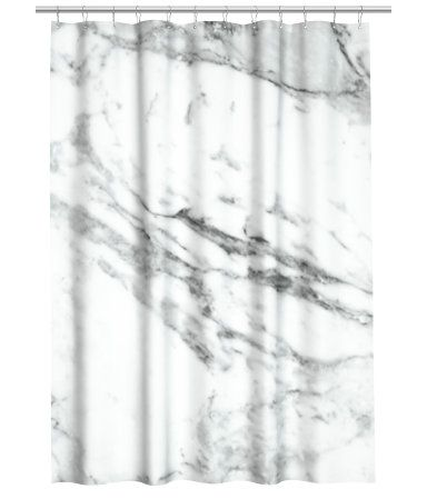 Marble Print Shower Curtain Everything Marble