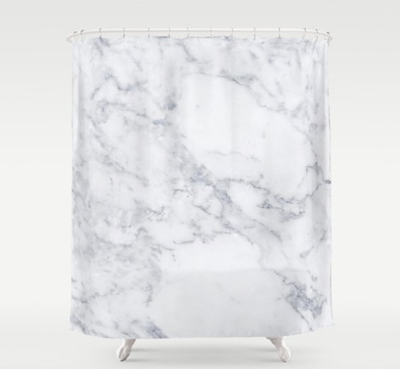 huntleigh marble shower curtain