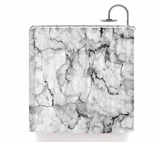 kess marble shower curtain