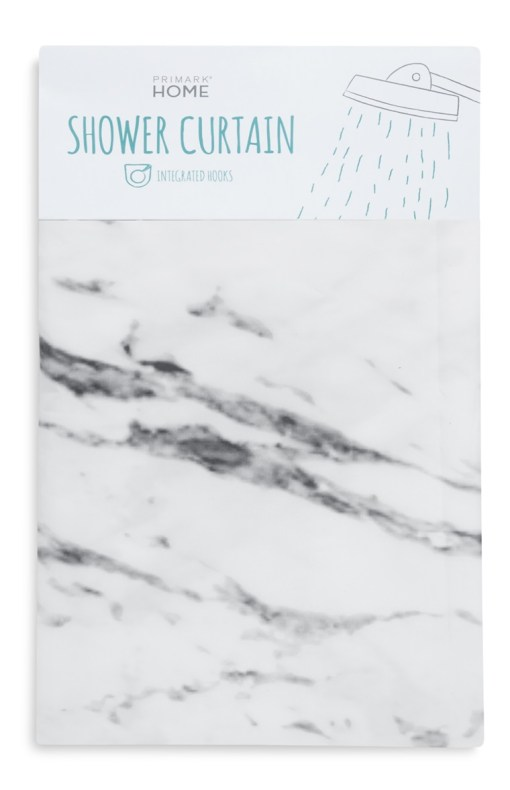Primark marble shower curtain