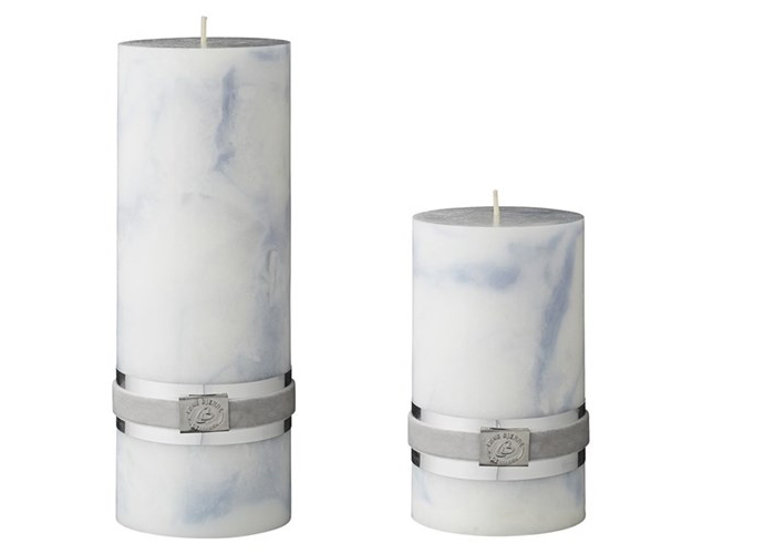 Marble pillar candle by Lene Bjerre..