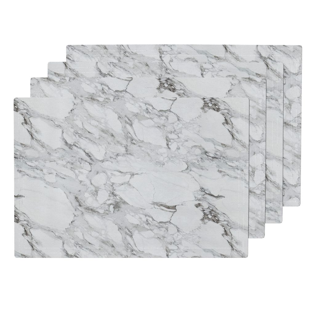 Marble placemats by Willow lane textiles