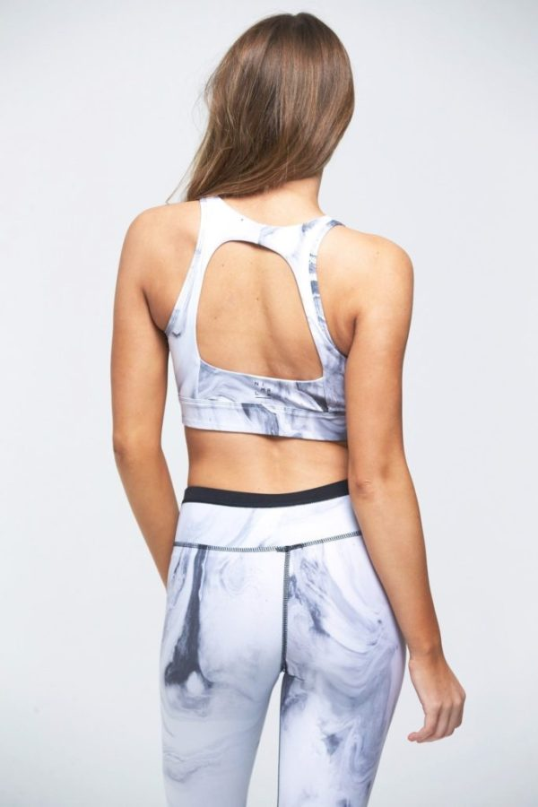 Grey marble Grace sport bra and leggings by INFLOW style