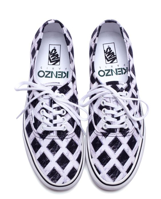 Kenzo for Vans: black and white marble print authentic - 2012