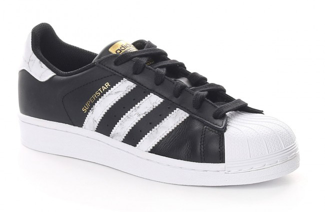 Adidas Superstar marble Pack, Black + White Carrara marble