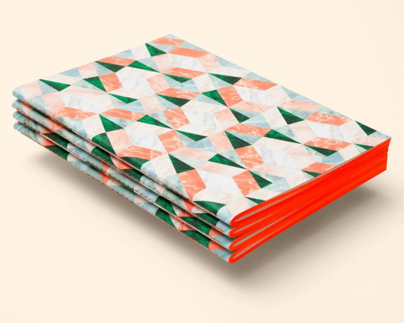 Coral Marble Notebook by Octaevo Barcelona octaevo.com