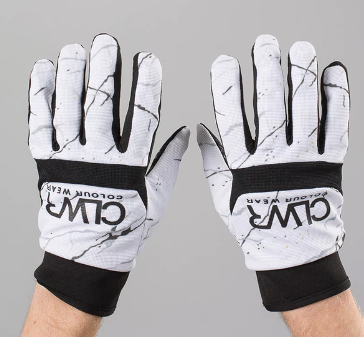 White marble CLWR Ski Gloves by WearColour