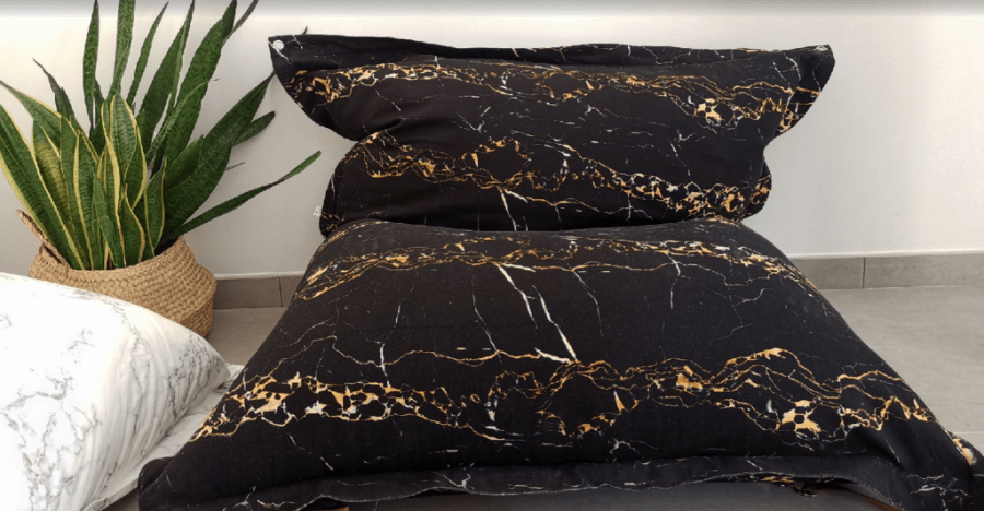 unSACCOdiMARMO! The Marble Lounge Pillow - Portoro Marble print