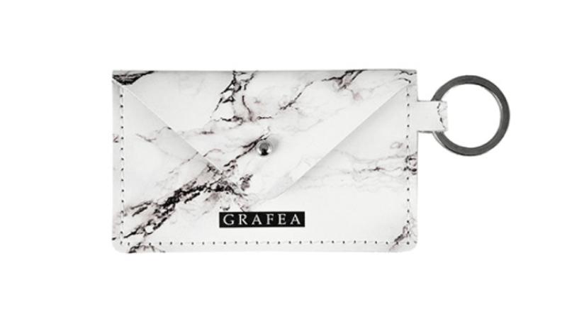 Marble print keyrings - Grafea
