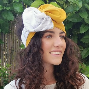 How to wear turbans: ribbon style - marble turban by everything marble and l'ughetta