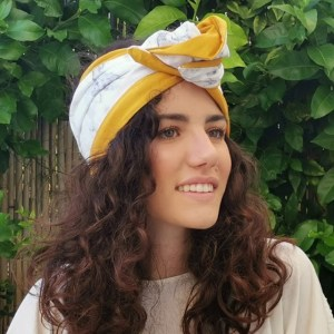 How to wear turbans: knot - marble turban by everything marble and l'ughetta