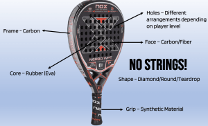 what is a padel racket made of