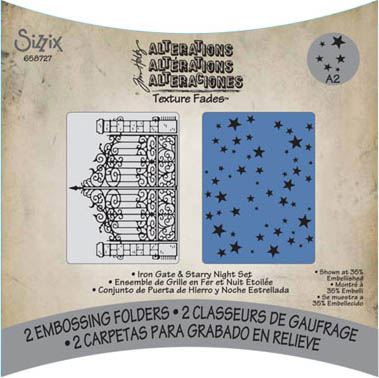Tim Holtz Embossing Folders Iron Gates and Starry Nights