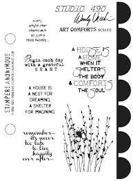 Wendy Vecchi Art Comforts Stamp Set