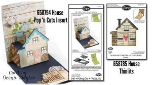 Snippets House Pop 'n Cuts Insert and matching House Thinlits Set.