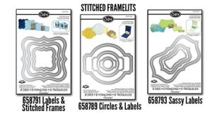 Stitched Framelits. These dies can be used on their own for layered labels, with or without stitch lines, since the stitch lines are on separate dies.