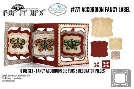 Accordian Fancy Label #771