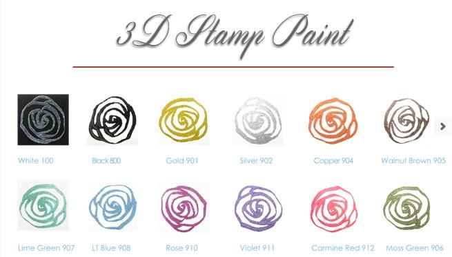 3d Stamp Paint Colors