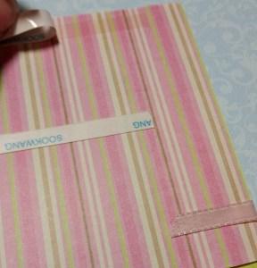 Scor-tape on flocked paper
