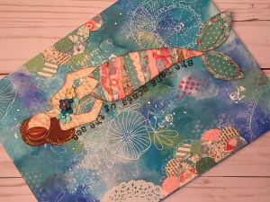 Julie Nutting Mermaid Canvas @ Everything Scrapbook & Stamps | Lake Worth | Florida | United States