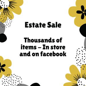 Estate Sale Starts Saturday