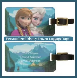 Personalized Disney Frozen Luggage Tag